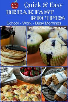 20 Quick & Easy Breakfast Ideas | Perfect for Back to School & Work | Recipes on PocketChangeGourmet.com