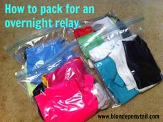 How to pack for an overnight relay @Blonde Ponytail #fitfluential