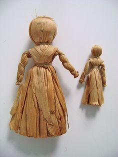 Make and Take: Corn Husk Dolls - Lakeshore Museum Center Corn Husk Dolls, Straw Crafts, Iroquois, White Beads, Star Shape, Black Velvet, Folk Art, Creative, How To Make