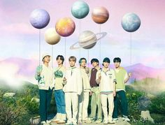 bts with balloon planets - Google Search Jinyoung, Taehyung 2017, Bts Group Picture, Fandom, Bts Book, Group Pictures, Out Of This World, Bts Jin, Jung Hoseok