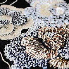 Ecole Broderie de Luxe NYC Niveau 3 classes start July Signup soon… Pearl Embroidery, Tambour Embroidery, Couture Embroidery, Embroidery Fashion, Embroidery Thread, Embroidery Designs, Tambour Beading, Textiles, Lesage