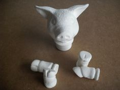 DIY Pig doll parts, doll head, doll legs, doll arms, Do it yourself by MapleHillCeramics on Etsy
