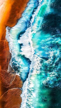 Best Wallpaper Hd, Handy Wallpaper, Ocean Wallpaper, Apple Wallpaper, Ocean Color Palette, Ocean Colors, Aerial Photography, Beach Photography, Landscape Photography