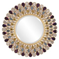 Wall mirror would be perfecto in navy bedroom.