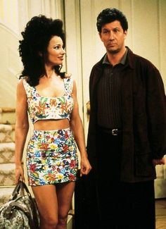 I mean look at these matching separates! | 27 Reasons Nanny Fine Is Your '90s Style Icon