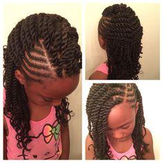 Marley Havana twists for little girls by @uniquely_u_hairstudio in Houston, TX