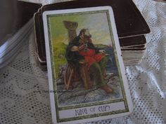 The King of Cups ( from the Druid Craft Tarot deck today. ) Is my card of the day. See the blog!