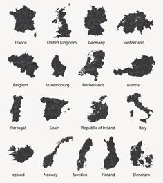 Find Vector Set European Maps Region Borders stock images in HD and millions of other royalty-free stock photos, illustrations and vectors in the Shutterstock collection. Sweden Map, Norway Map, Denmark Map, Austria Map, Netherlands Map, United Kingdom Map, European Map, Ireland Map, Europe