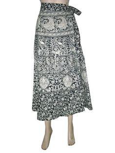 "Cotton Wrapskirt Black & White Color Barmer Print Wrap Around Skirts 36"" Mogul Interior, http://www.amazon.com/gp/product/B009CNKG64/ref=cm_sw_r_pi_alp_CMiwqb09EF1B7"