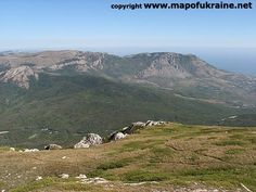 Crimean mountains. View on Demerdzhi from Chatyr-Dah
