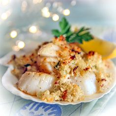 Ina's Scallop Gratin by buckknrunranch. Recipe by Ina Garten. #Scalops #Ina_Garten