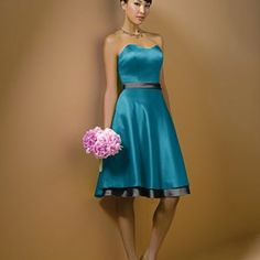 Brides maid dress in teal and black from AfterSix