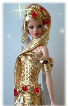 ooak barbie golden goddess by Dollocity - OOAK New Barbie Dolls, Barbie Miss, Barbie Model, Vintage Barbie Dolls, Ooak Dolls, Barbie Clothes, Blythe Dolls, Barbies Dolls, Barbie Dream