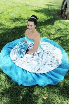 385e17583b35 3011 in White Snowfall True Timber and Turquoise Pink Camo Wedding Dress,  Snow Camo Wedding