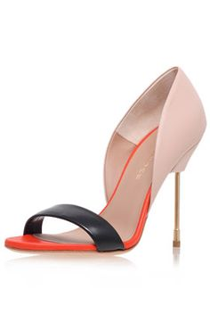 **High Heel Leather Court Shoes by Kurt Geiger - New In This Week - New In