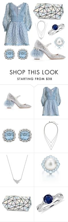 """Spring Sweet"" by leiastyle on Polyvore featuring Miu Miu, Zimmermann, Banana Republic, Bloomingdale's, Tiffany & Co., Bao Bao by Issey Miyake, Blue Nile, Blue, sweet and pastel"