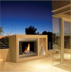 Marquis Aurora Gas Fireplace Insert Outdoor Designs Black