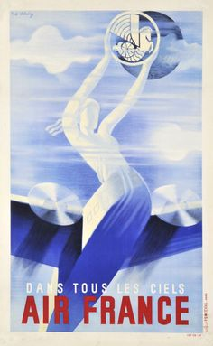 1935 Air France vintage travel poster