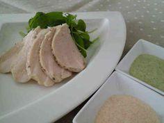 究極の柔らかさ♡茹で鶏~2種のソースで♡の画像