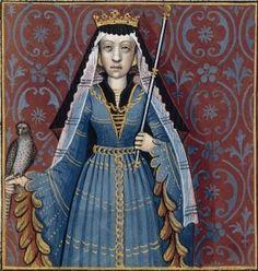Olympias -- BnF Français 599 fol. 54. Giovanni Boccaccio (1313-1375), Le Livre des cleres et nobles femmes, v. 1488-1496, Cognac (France), traducteur anonyme. -- Illustrations painted by Robinet Testard - BNF, Paris, Ms Fr 599