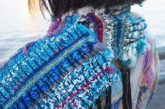 saori weaving by yuki, via Flickr
