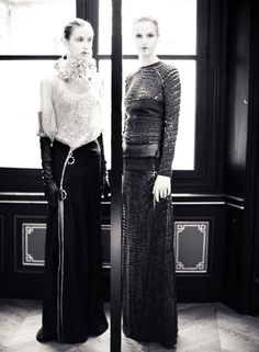 Love the fabrics, but there's something about the mouth of the one on the right that disturbs me.