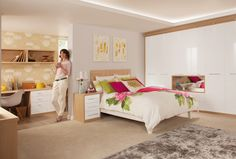 Space Saving Fitted Bedroom Furniture for Storage Creating Compact Interior Design Fitted Bedroom Furniture, Fitted Bedrooms, Bedroom Decor, Bedroom Ideas, Office Furniture, Master Bedroom, Pine Furniture, Bedroom Small, Stylish Bedroom