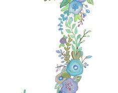 J - Floral Print