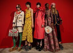 Gucci at Milan Fashion Week Spring 2017 - Backstage Runway Photos
