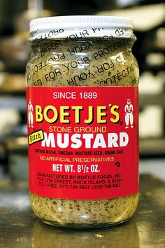 When Fred Boetje began selling his Stone Ground Dutch Mustard door-to-door in 1889, little did he know how popular the condiment would become. Boetje, a German immigrant, thought American foods were too bland. So he began mixing up the spicy concoction in his garage in Rock Island not far from where Boetje's is manufactured today.