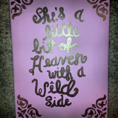 She's a little bit of heaven with a wild side canvas!