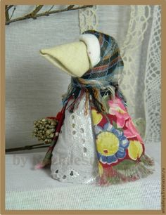 Купить или заказать Кукла-оберег 'Ворона' в интернет-магазине на Ярмарке Мастеров. Рождественская Ольга