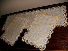 Simplesmente crochet !: Conj.de 3 naprons de quarto