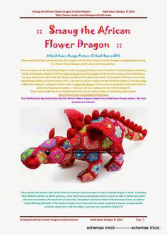 Smaug the African Flower Dragon corr - marie gurumi - Picasa Web Albums