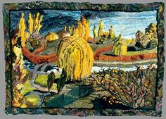 View over Rowntree Park: Autumn: Louisa Creed rag rug