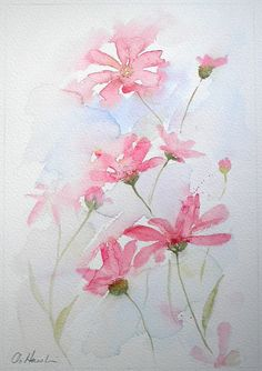 WILD GARDEN An Original Watercolour Painting by Amanda Hawkins  Size of painted area: 22 x 32cm approx Not framed or mounted  About The Artist  Amanda Hawkins has been painting in watercolours for most of her life, and graduated in Art, Design and Illustration at Southampton Institute. Amanda has worked on numerous commissions both private and commercial, designing greeting cards and illustrating wildlife books. She has held many successful exhibitions of her work across the South of England…