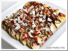 Apple nachos. Healthy dessert?