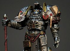 Atius - the hammer of inquisition , Giulio Marrone Dittli Warhammer 40k Tabletop, Warhammer Paint, Warhammer 40k Art, Warhammer 40k Miniatures, Warhammer Fantasy, Personal Armor, Grey Knights, Knight Art, Space Marine