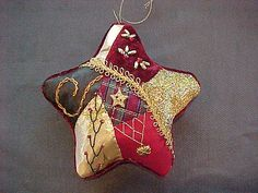 Fran's Crazy Quilt Star Ornament