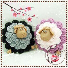 2 набора. Зефирная Парочка (овечка,барашек в упак.) - подарочное мыло -