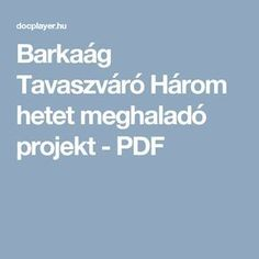 Barkaág Tavaszváró Három hetet meghaladó projekt - PDF Spring Crafts, Education, School, Creative, Easter, Projects, Teaching, Training, Educational Illustrations