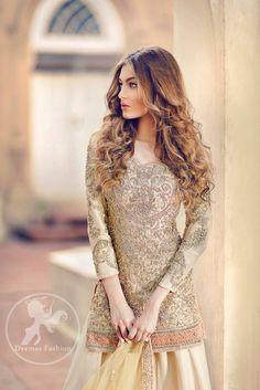 """Pakistani couture : """" Iqra F. Pakistani Wedding Dresses, Pakistani Bridal, Pakistani Outfits, Indian Dresses, Indian Outfits, Bridal Dresses, Pakistani Clothing, Party Wear, Party Dress"""