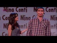 Nina Conti - Human Puppet Dancing. SO funny! Ventriloquist.