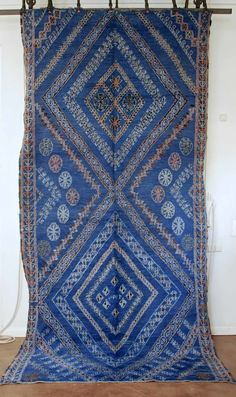Vintage Moroccan Beni Ouarain Rug from the Souk, by M.Montague