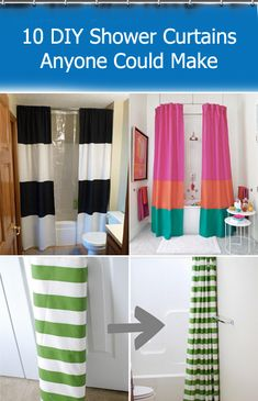 10 #DIY Shower Curtains Anyone Could Make