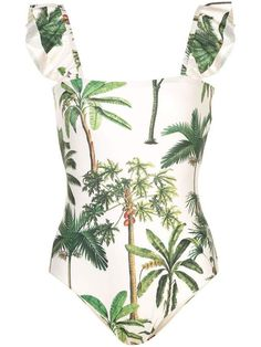 Get inspired and discover Agua by Agua Bendita trunkshow! Shop the latest Agua by Agua Bendita collection at Moda Operandi. One Piece Swimsuit For Teens, One Piece Swimsuit Flattering, Swimsuits For Big Bust, One Piece Swimsuit Slimming, Swimsuits For Teens, Modest Swimsuits, Palm Tree Print, Palm Trees, Atelier Versace