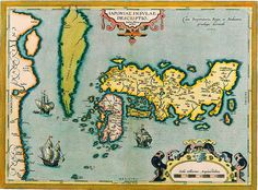 Map of Japan Abraham Ortelius c 1590