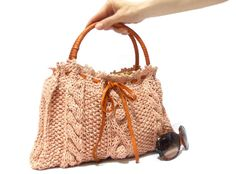 Unique+Knitting+Bags | Handmade bag Knitted Purse Handmade purse Handmade knit by aynikki