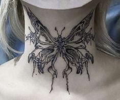 Kritzelei Tattoo, Grunge Tattoo, Tattoo Hals, Sick Tattoo, Poke Tattoo, Piercing Tattoo, Tattoo Drawings, Tattoo Sketch Art, Piercings