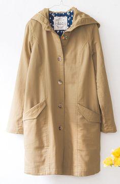 《ジャストワン》 リブ イン コンフォート コットン100%のダブルガーゼ素材で着心地やわらかフード付きコート   フェリシモ